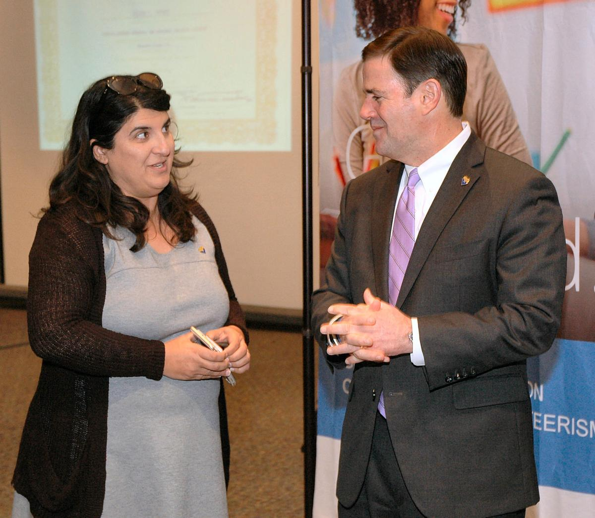 Gov. Doug Ducey and his education advisor