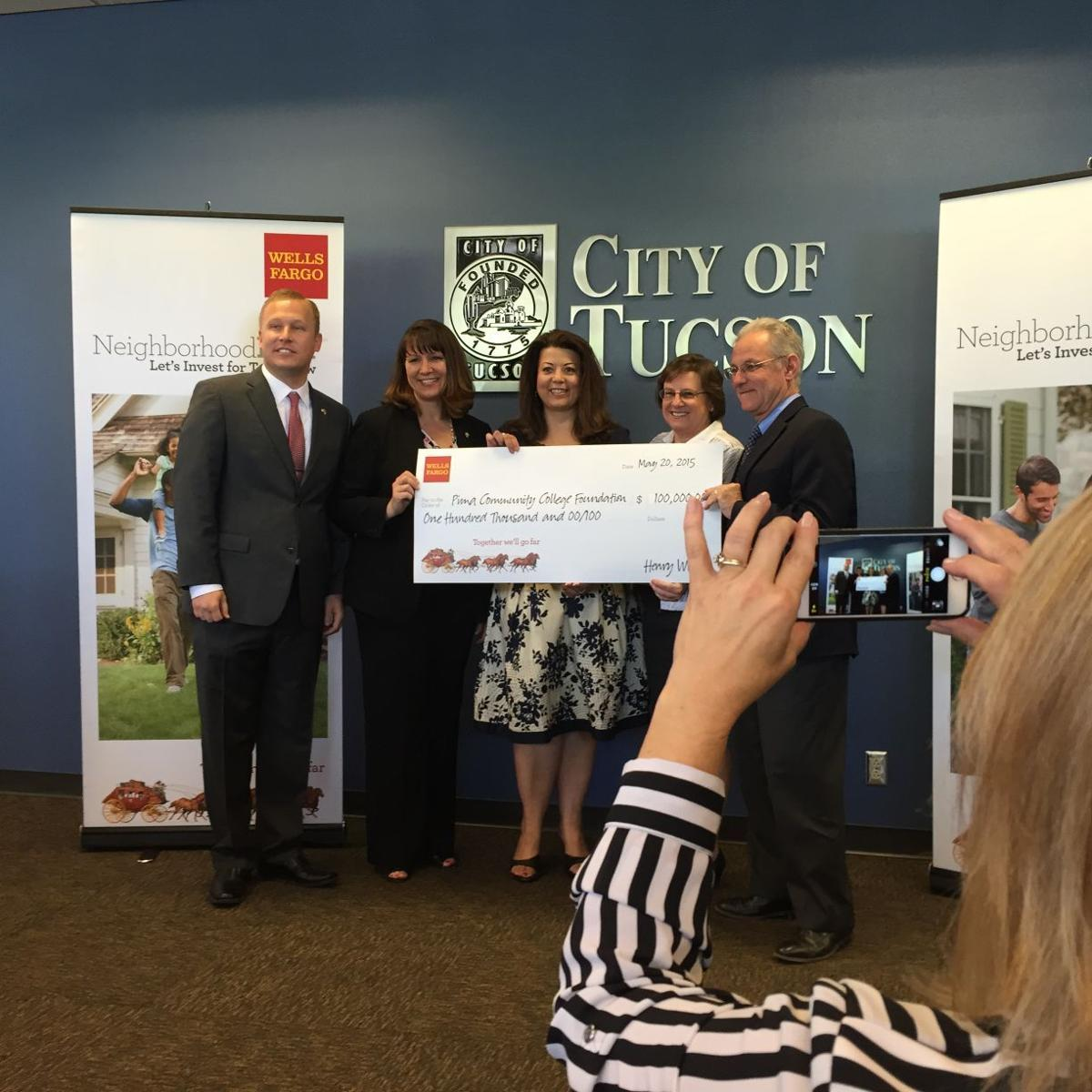Wells Fargo gives $100k for PCC scholarships | News About