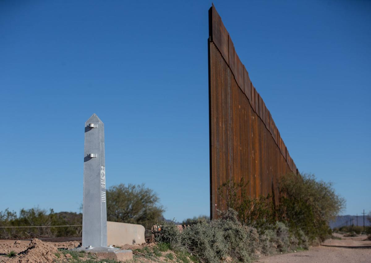 Border wall near Lukeville