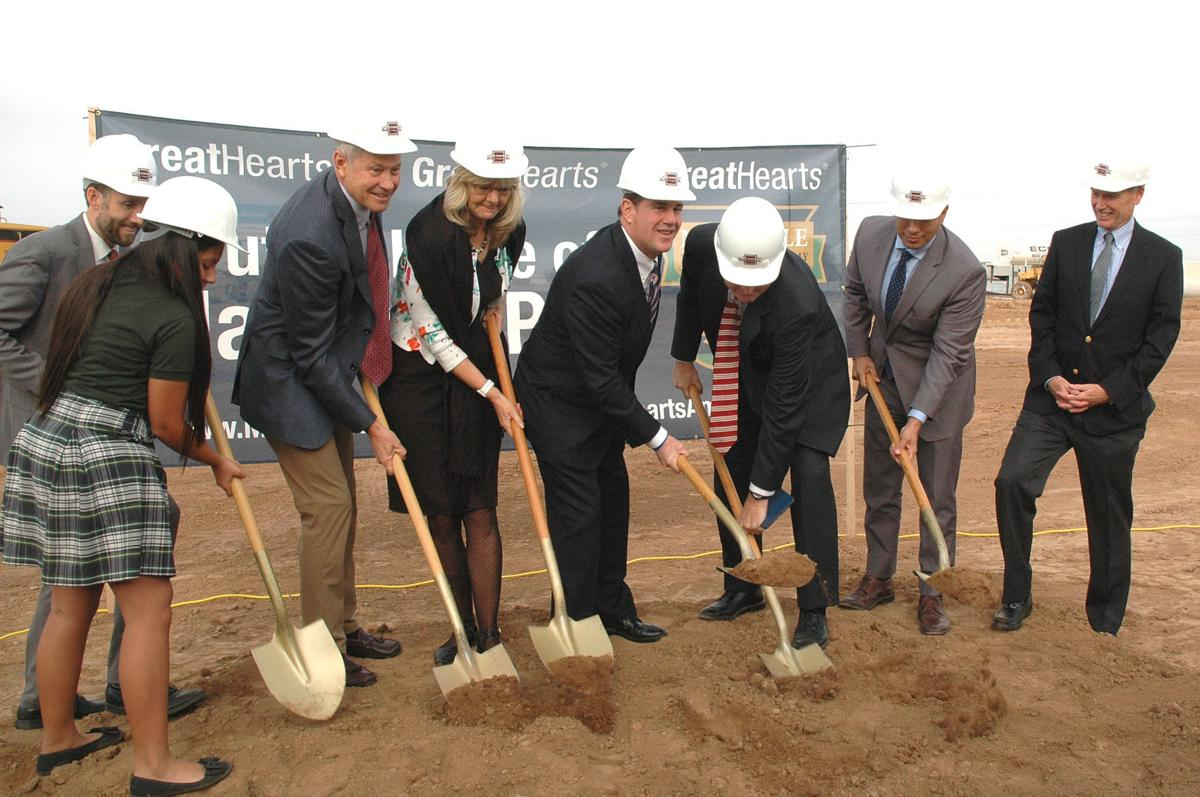Ducey at charter school ground breaking