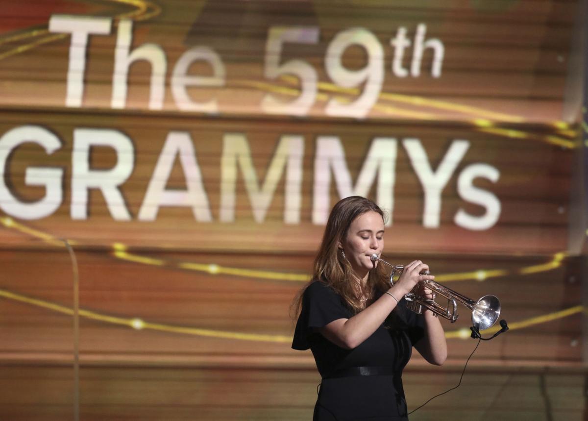 The 59th Annual Grammy Awards - Miranda Agnew