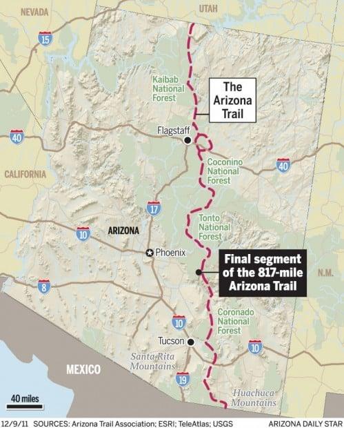 Map: The Arizona Trail | | tucson.com