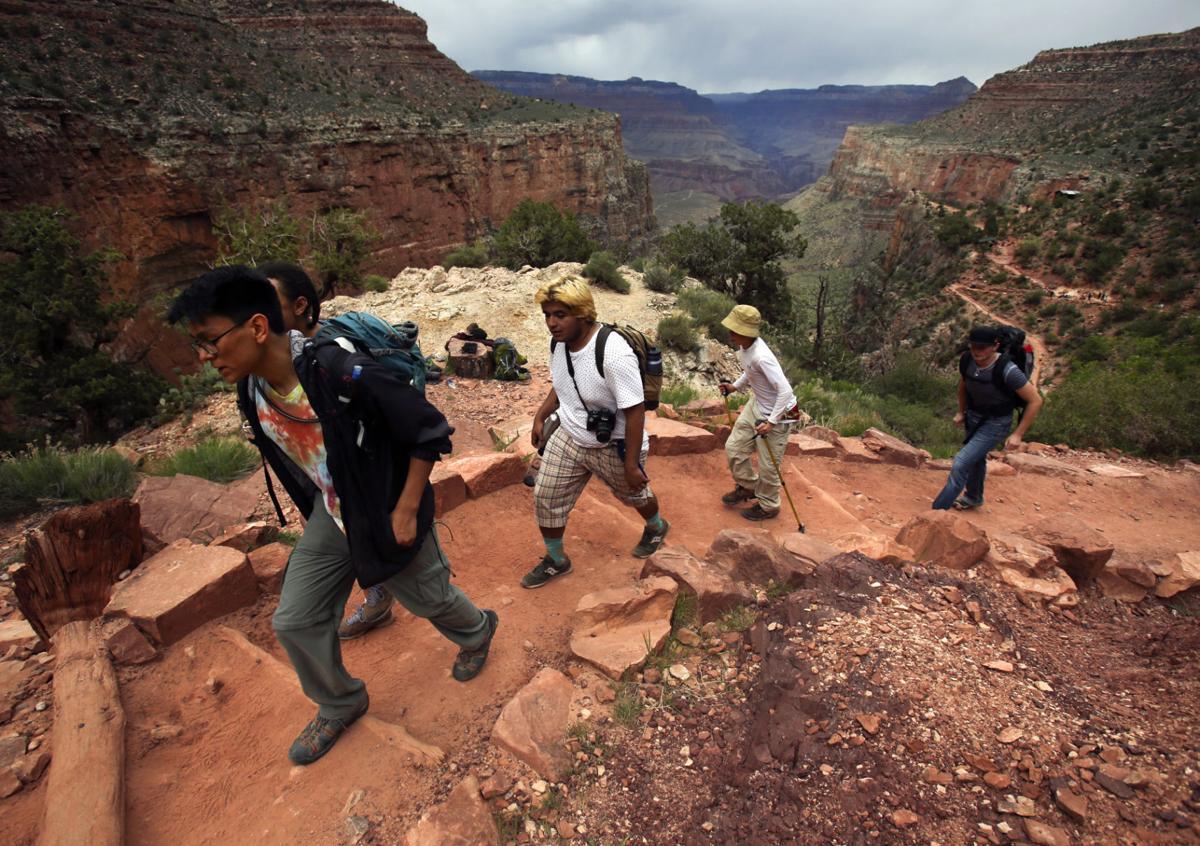 Teen summit Grand Canyon hike