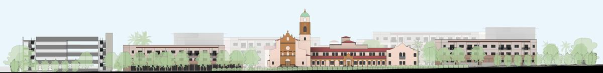 Benedictine Monastery rendering