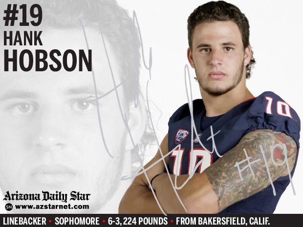 University of Arizona Wildcats linebacker Hank Hobson