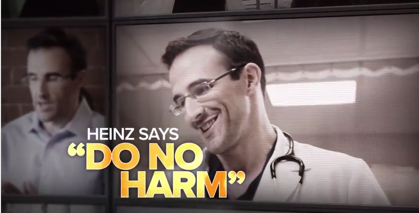 "TV Ad: ""Harmful actions"""