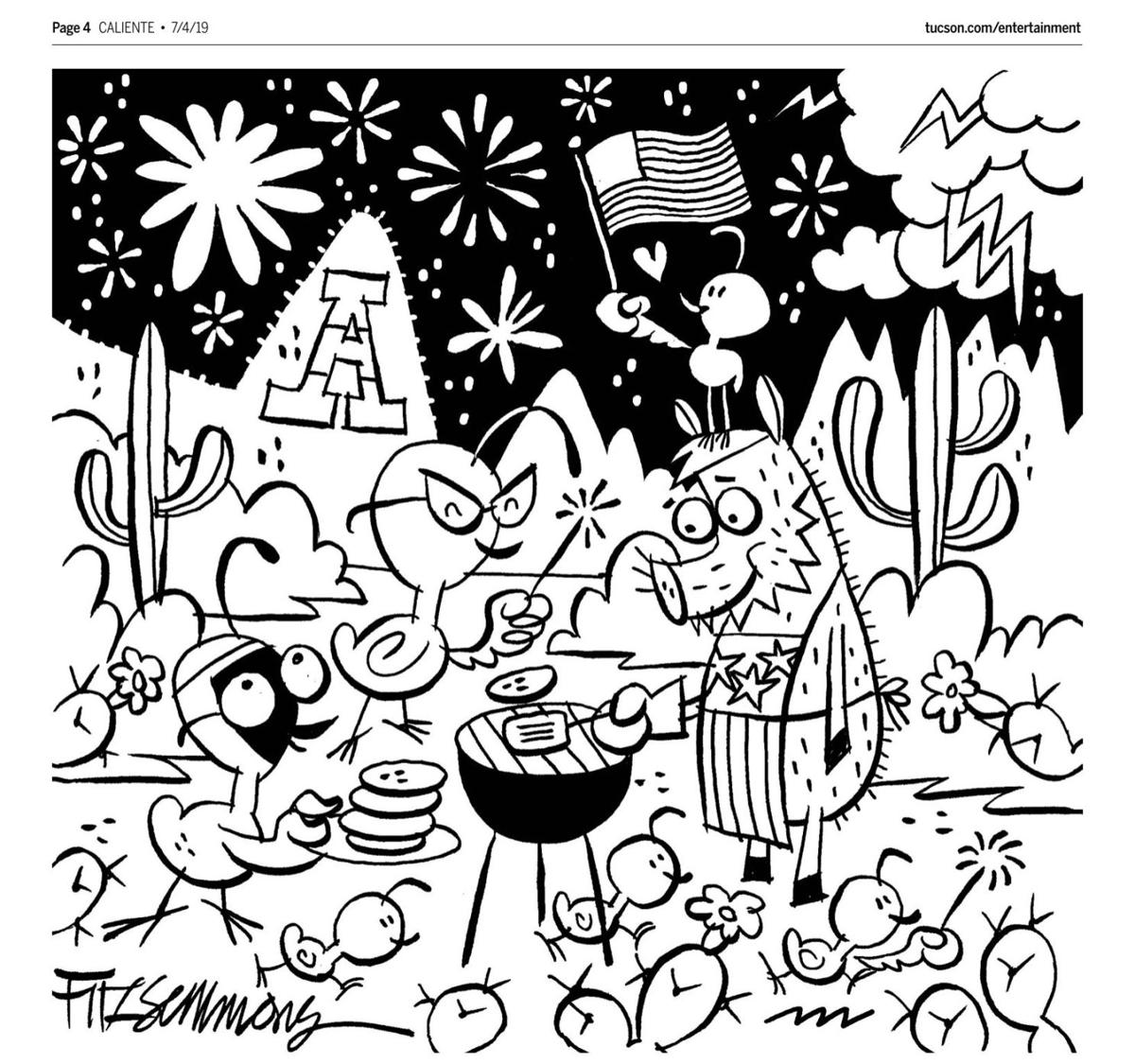 July 4 coloring page