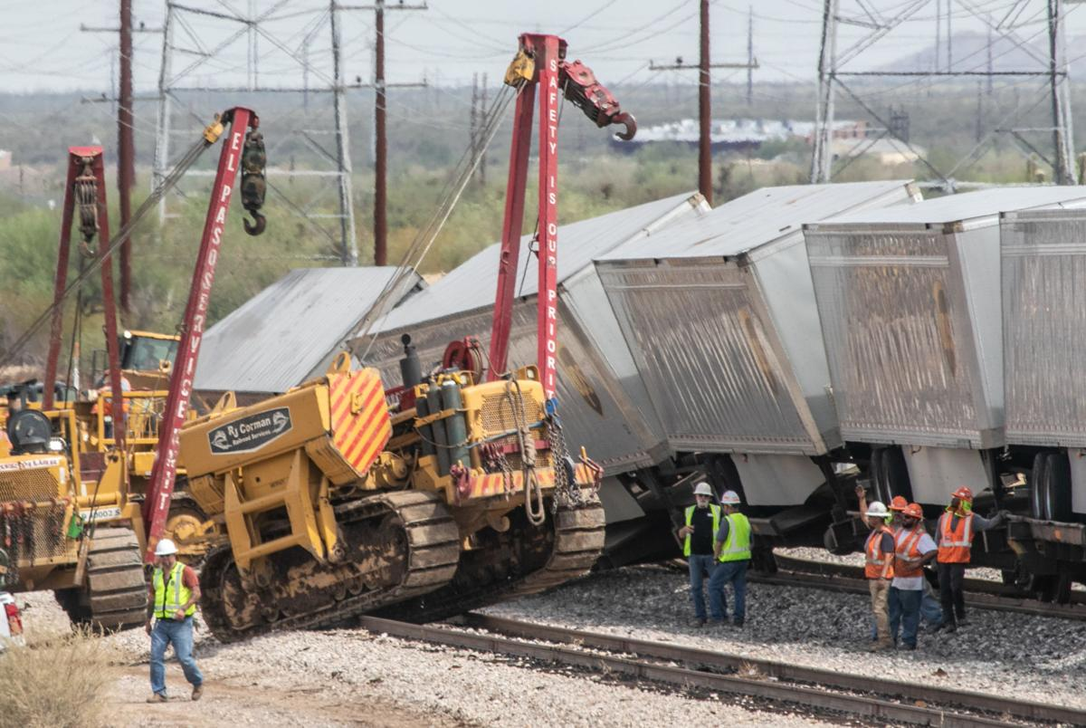Train derails north of Tucson, likely caused by heavy rains