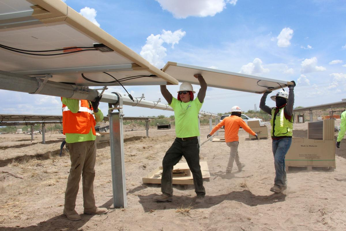 Big Solar Farm Going Up Near Apache Power Plant Outside Of