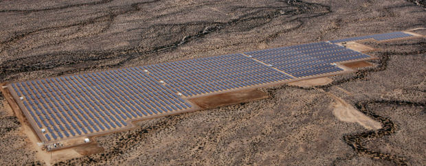 Solon Corp. flips on the switch at big solar plant near Kingman