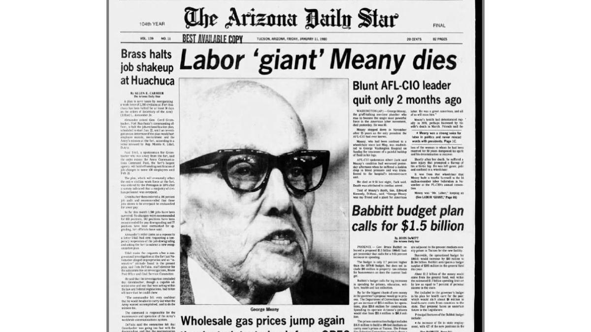 Arizona Daily Star front page Jan. 11, 1980
