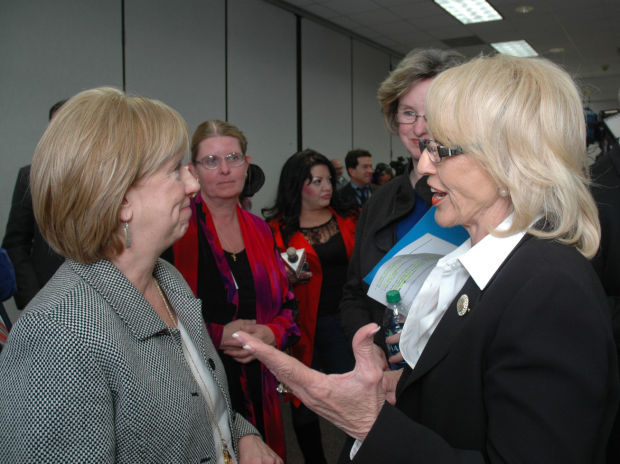 Tucson Medical Center CEO Judy Rich and Arizona Gov. Jan Brewer