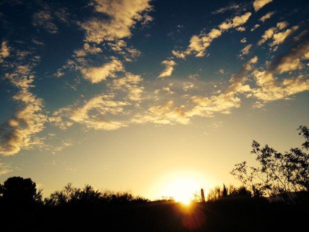 Sunrise over Tucson