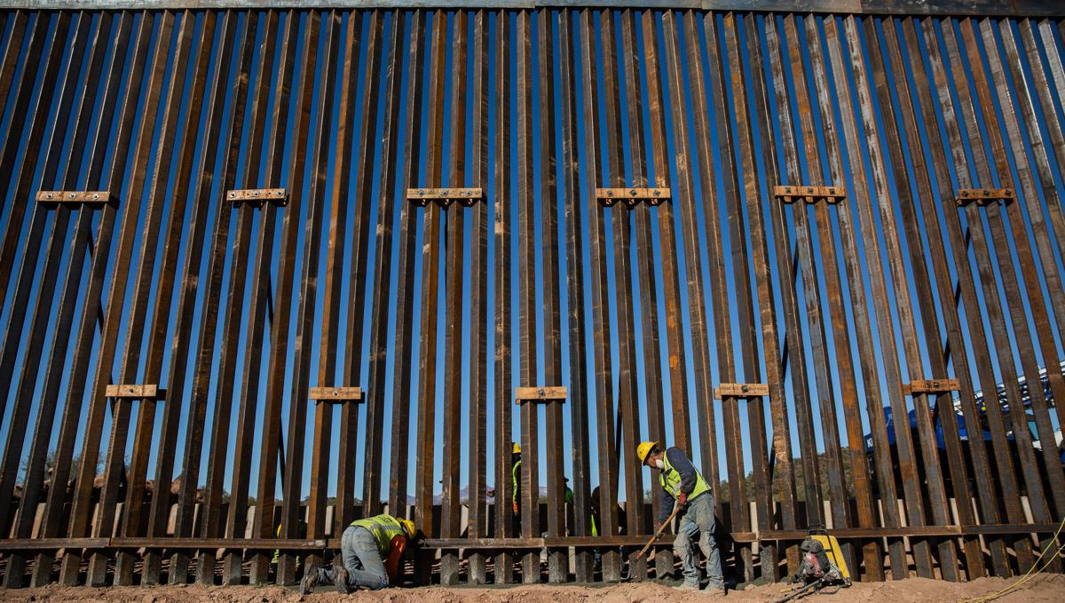 Border wall near Lukeville, Ariz.