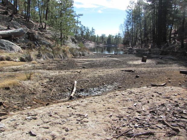 Low water at lake