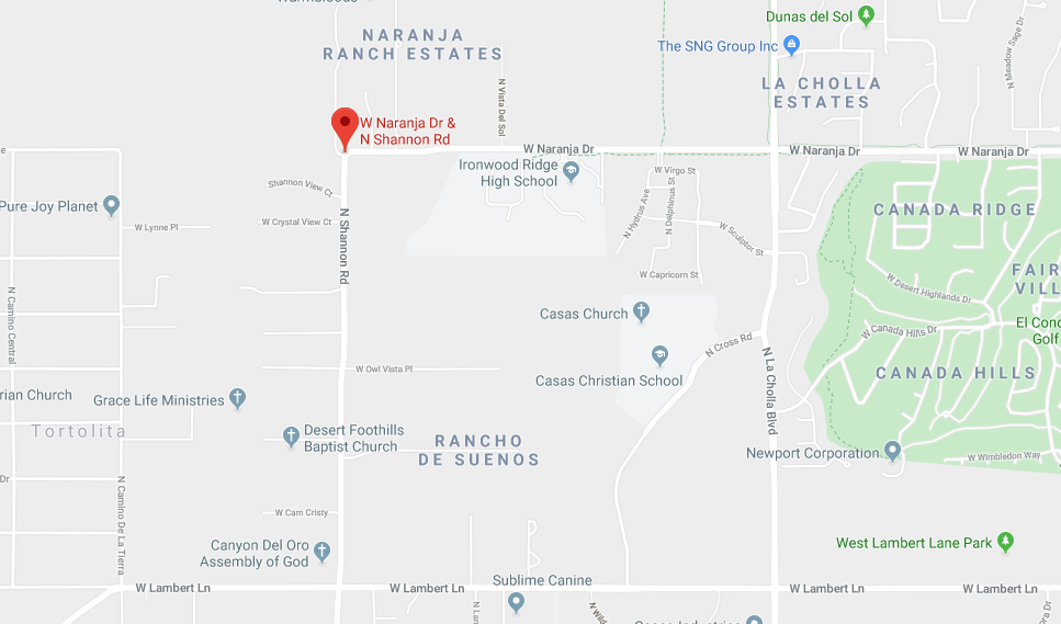 Shannon Road closed near Ironwood Ridge High in Oro Valley