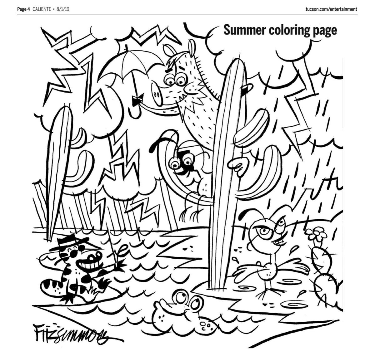 August 1 coloring page