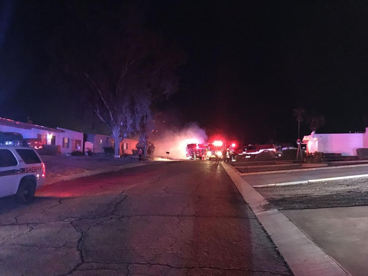 RV fire on Tucson's northwest side