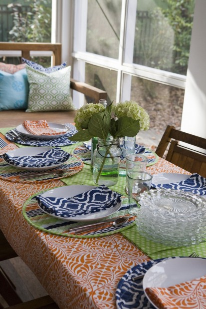Everyday linens make meals feel special