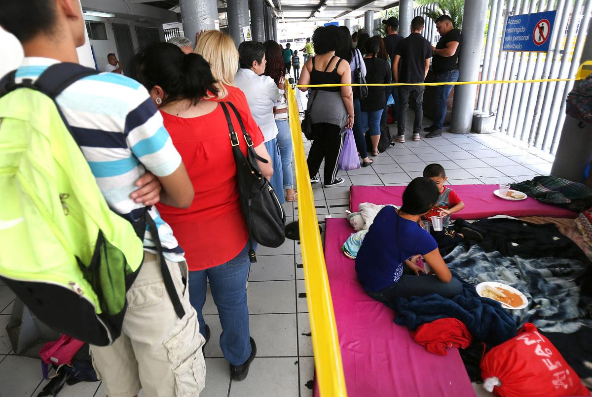 Guatemalan migrants at DeConcini Port of Entry