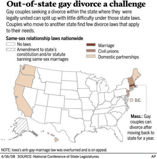 Married gays in uncharted divorce waters | AP National News
