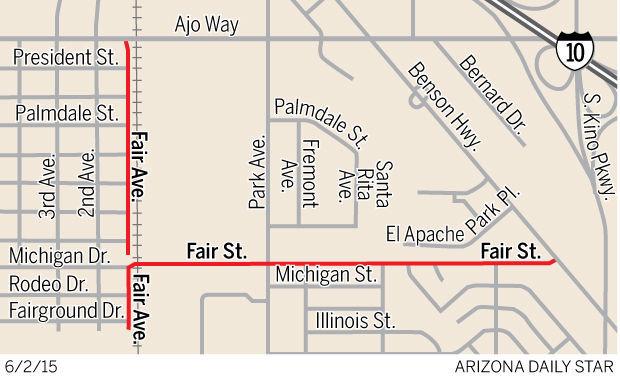 Fair Avenue map