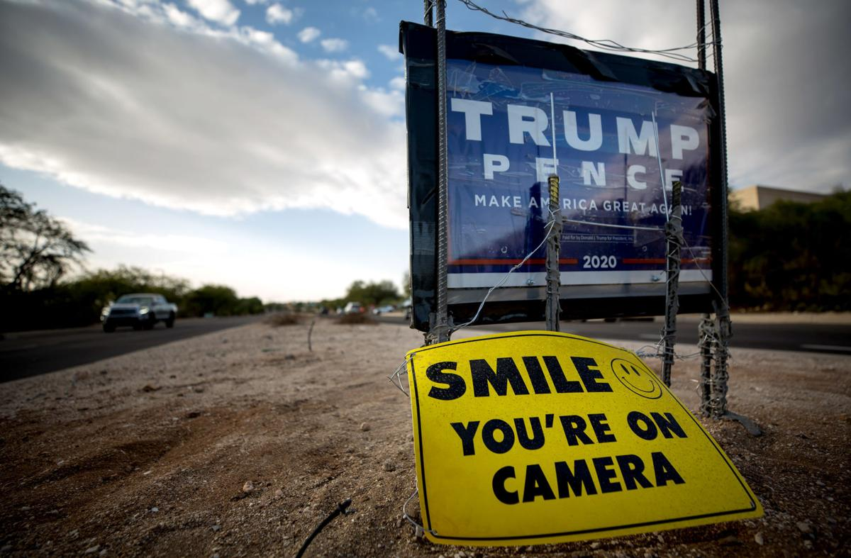 Trump signs in the Catalina Foothills