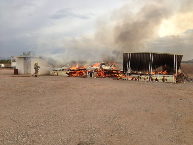 Fire destroys trailer on Tucson's northwest side
