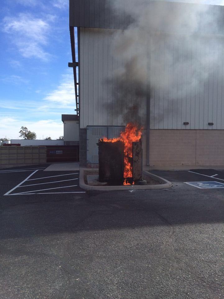 Transformer fire downtown