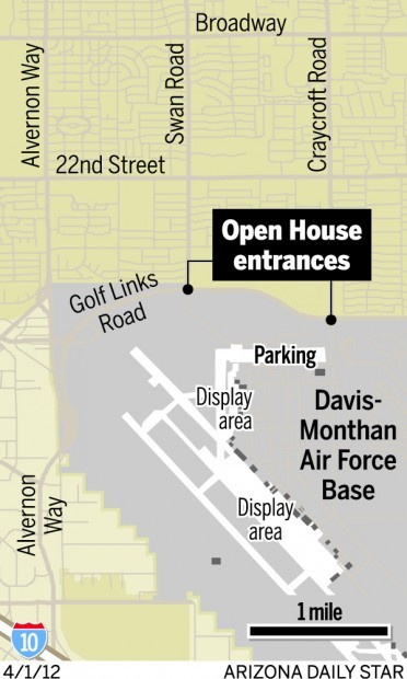 Map: No shuttles this year to big D-M air show