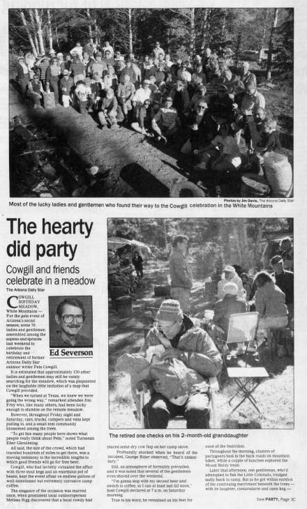 Aug. 30, 1990: Retirement party