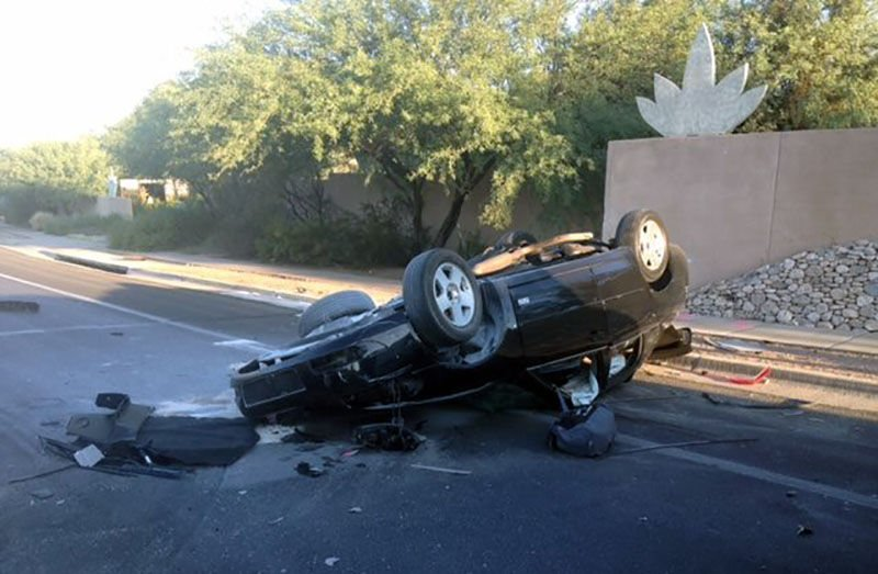 Driver in stolen car killed in crash on Tucson's north side