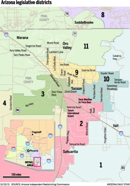Map Of Arizona Voting Districts.Legislative Map Elicits Numerous Complaints Govt And