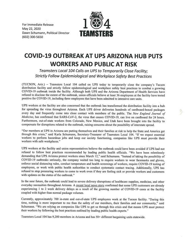 Teamsters statement