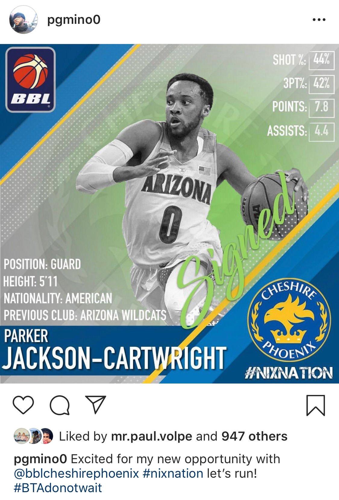 Parker Jackson-Cartwright Instagram post
