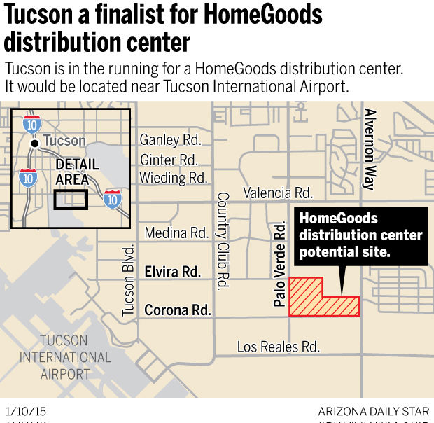 Tucson a finalist for HomeGoods distribution center   News   tucson com. Tucson a finalist for HomeGoods distribution center   News