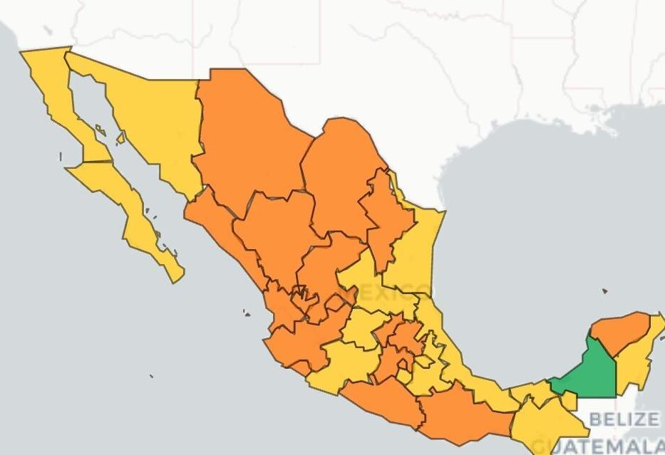 Semáforo Epidemiológico de México