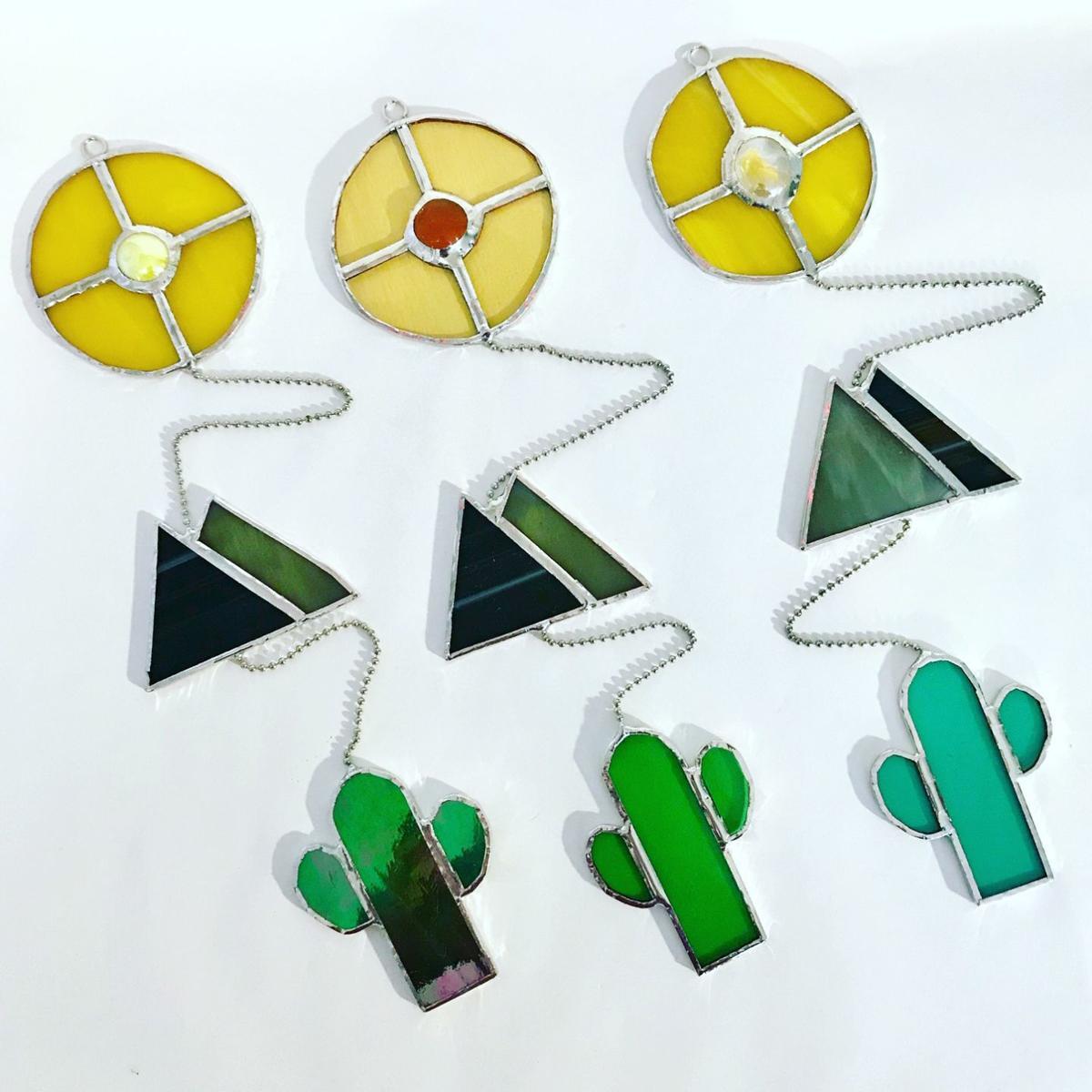 Desert glass hangers
