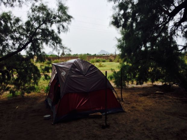 Tent home in Santa Cruz