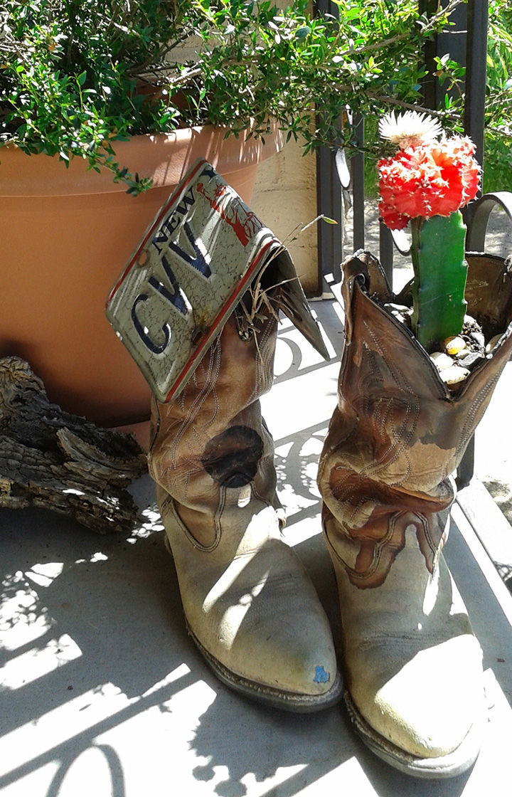 Old cowboy boots, reimagined