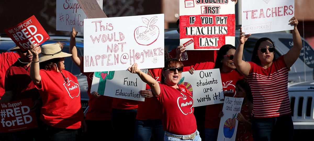 Teacher Stand-Out on Broadway in Tucson