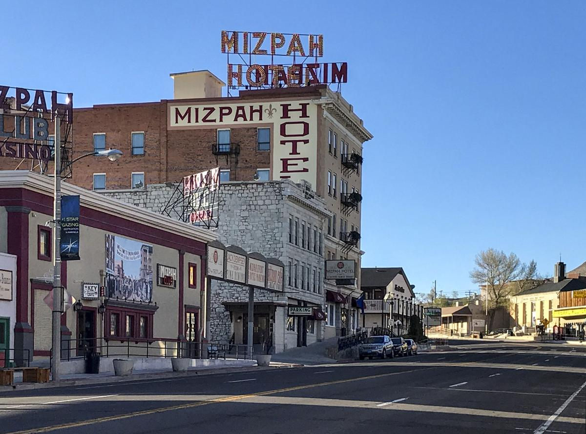 The old hotel in Tonopah, Nev., built in 1907, features themed Western rooms. Tonopah is midway between Reno and Las Vegas.