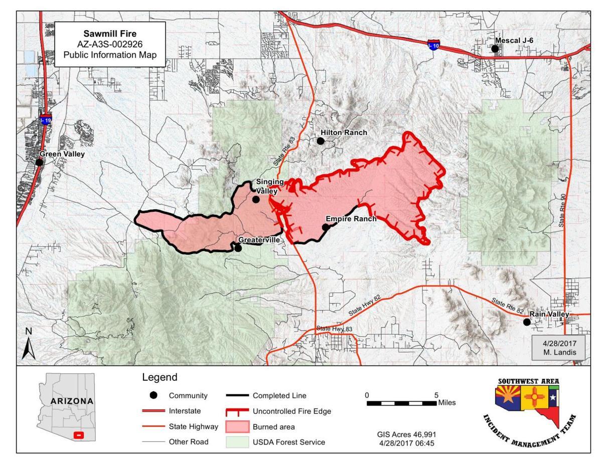 Sawmill Fire map | | tucson.com