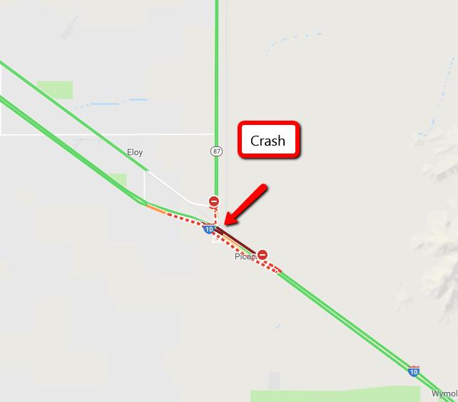 ADOT crash scene map