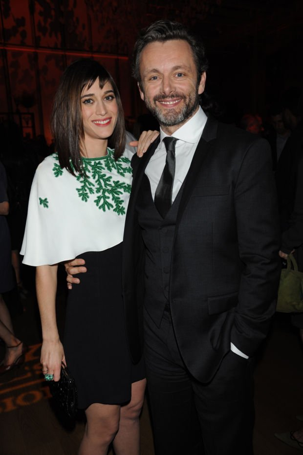 Full Sized Photo of lizzy caplan michael sheen masters of ...   Michael Sheen Lizzy Caplan