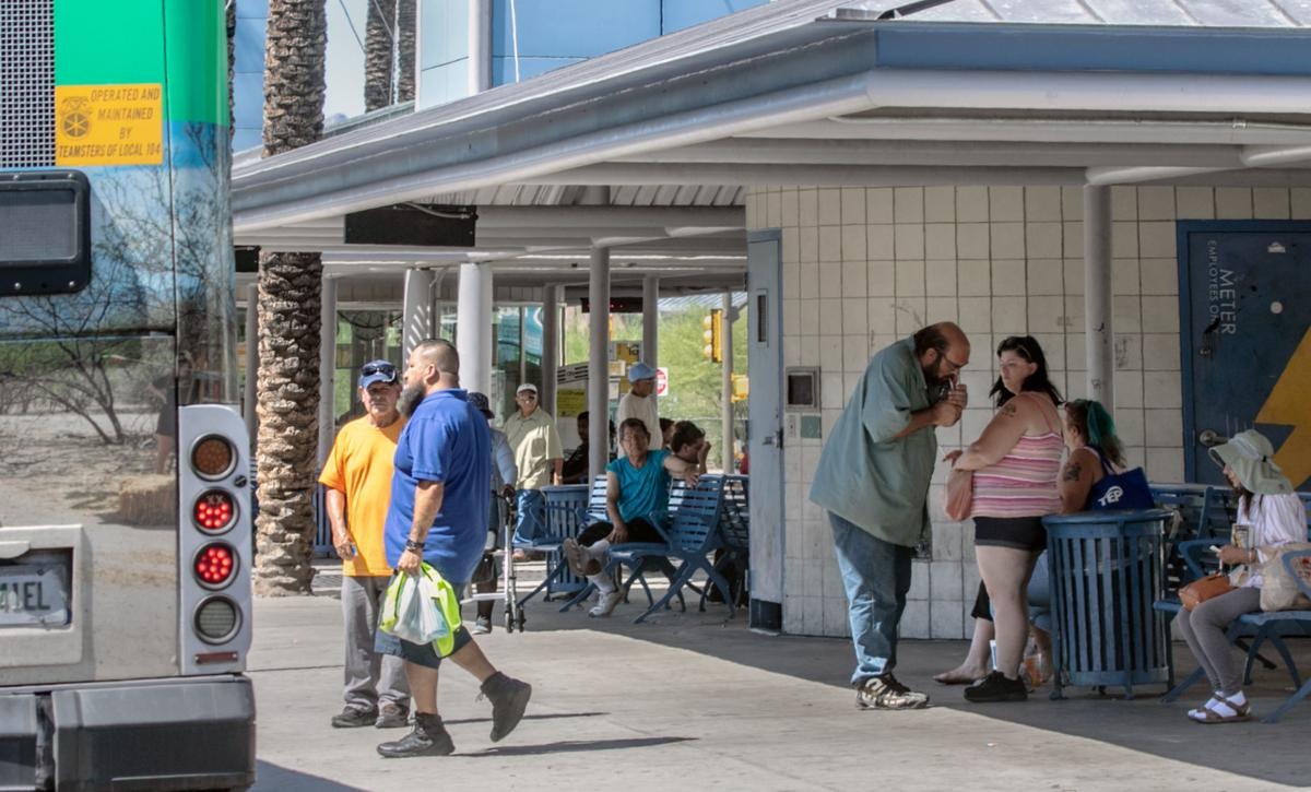 Smoking ban at Sun Tran transit centers