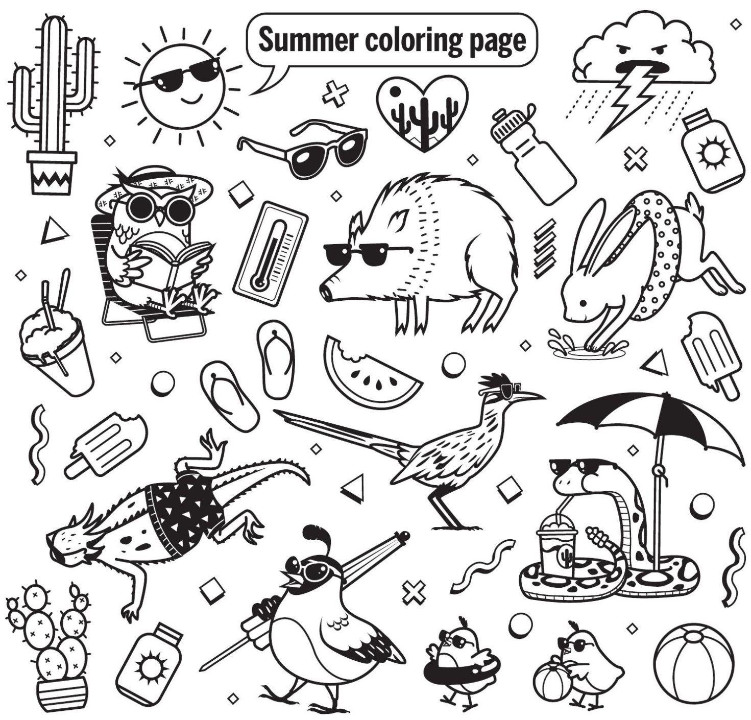 Print Out These 12 Totally Adorable Tucson-themed Coloring Pages