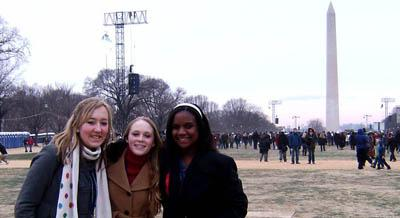 Area students attend inauguration in D.C.