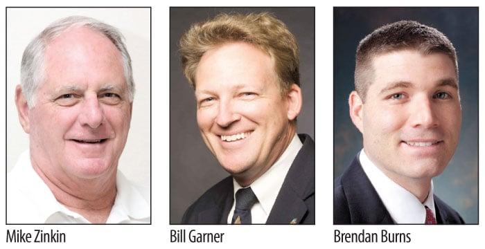 Mike Zinkin, Bill Garner and Brendan Burns