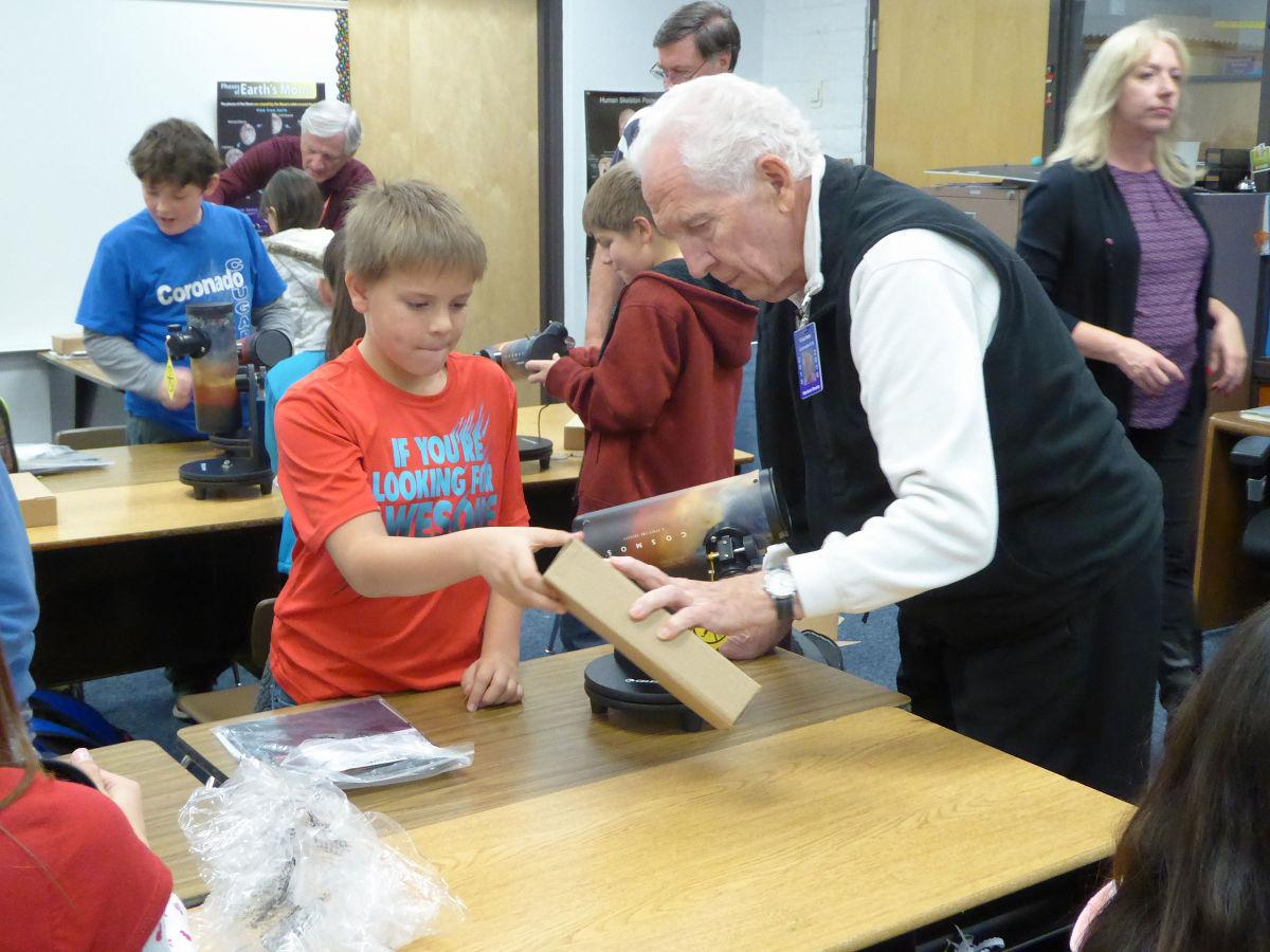 Astronomers donate telescopes to students